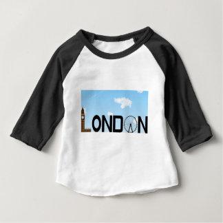Camiseta Para Bebê Dia da skyline de Londres