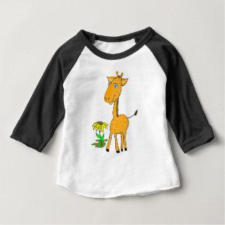 Camiseta Para Bebê dia do divertimento do girafa