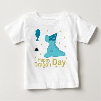 Camiseta Para Bebê Dia feliz do dragão