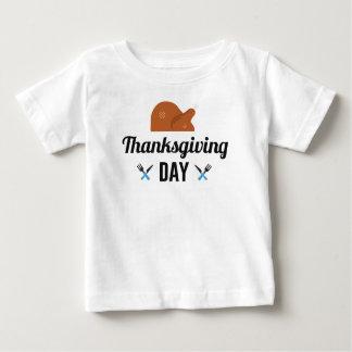 Camiseta Para Bebê Dia feliz Turquia da acção de graças