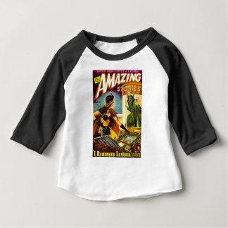 Camiseta Para Bebê Diabrete atrás do vidro