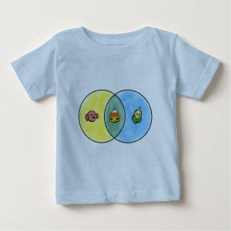 Camiseta Para Bebê Diagrama de Venn do milho de doces