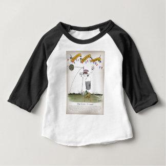 Camiseta Para Bebê dianteiro de centro do futebol de Inglaterra