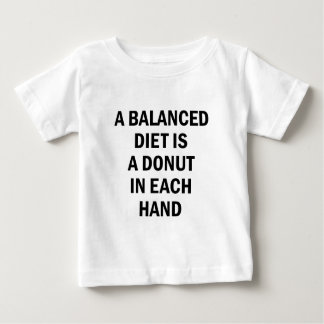 Camiseta Para Bebê Dieta equilibrada
