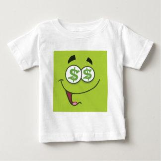 Camiseta Para Bebê Dinheiro feliz Emoji