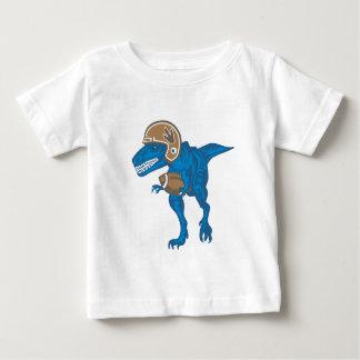 Camiseta Para Bebê Dinossauro que joga o futebol