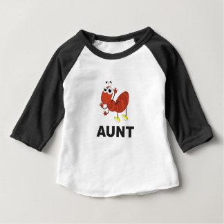 Camiseta Para Bebê divertimento da formiga da tia