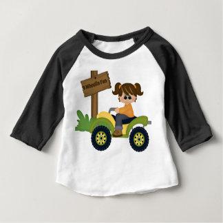 Camiseta Para Bebê Divertimento de 4 rodas
