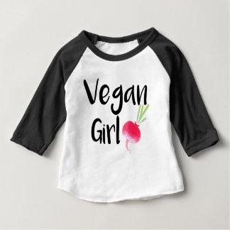 "Camiseta Para Bebê Do ""bebê das beterrabas da menina Vegan"""