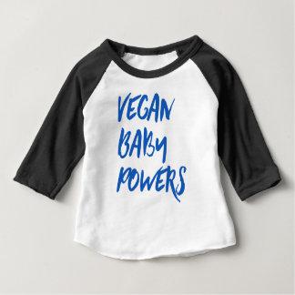 """Camiseta Para Bebê Do """"bebê dos poderes do bebê Vegan"""""""