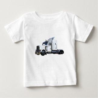 Camiseta Para Bebê Do branco reboque de tractor semi