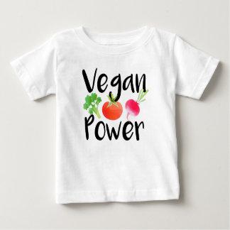 """Camiseta Para Bebê Do """"camisa do bebê do poder Vegan"""""""