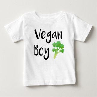 """Camiseta Para Bebê Do """"camisa do bebê dos brócolos do menino Vegan"""""""