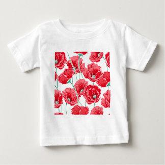 Camiseta Para Bebê Do campo vermelho da papoila da relembrança teste