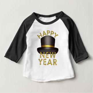 Camiseta Para Bebê Do chapéu o ano novo do t-shirt do bebê