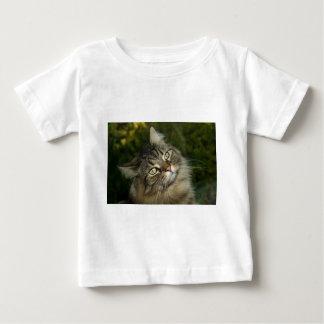 Camiseta Para Bebê Do gato norueguês da floresta do gato gato