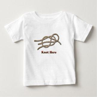 Camiseta Para Bebê Do nó roupa do bebê aqui -