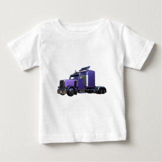 Camiseta Para Bebê Do roxo caminhão metálico do reboque de tractor