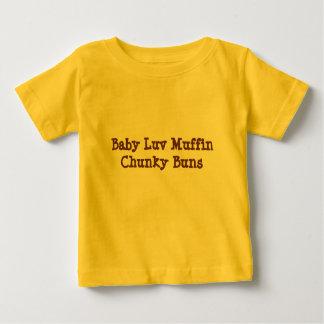 """Camiseta Para Bebê Do """"T do bebê dos bolos robustos do muffin de Luv"""