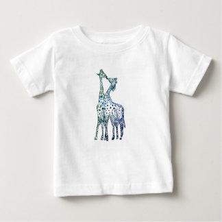 Camiseta Para Bebê Do t-shirt fino do jérsei do bebê beijo doce dos