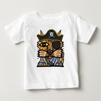 """Camiseta Para Bebê Do """"t-shirt fino do jérsei do bebê do Kat pirata"""""""