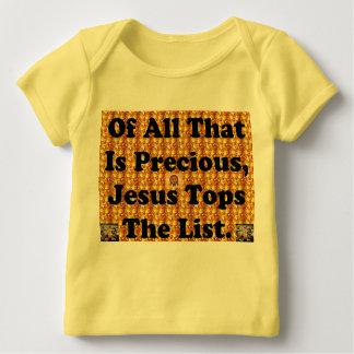 Camiseta Para Bebê Do todo o que é precioso, Jesus cobre a lista