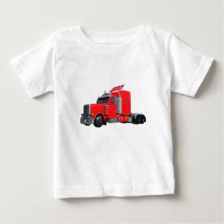 Camiseta Para Bebê Do vermelho reboque de Tracter semi
