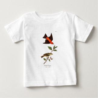 Camiseta Para Bebê Do vintage do Tanager dos 1800s do pássaro