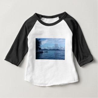 Camiseta Para Bebê Doca do barco da ilha