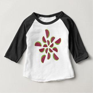 Camiseta Para Bebê Doces da mastigação da melancia
