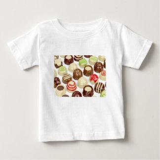 Camiseta Para Bebê Doces de chocolate