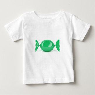 Camiseta Para Bebê Doces duros envolvidos verde