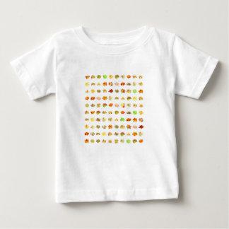 Camiseta Para Bebê Doces e fundo sem emenda do teste padrão dos doces