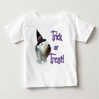 Camiseta Para Bebê Doçura ou travessura de Sealyham Terrier