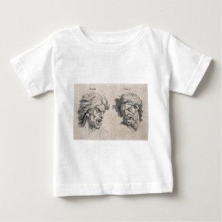 Camiseta Para Bebê Dois desenhos das caras irritadas