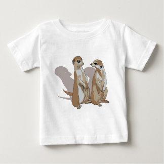 Camiseta Para Bebê dois Erdmännchen com sombras