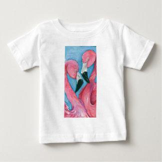 Camiseta Para Bebê Dois flamingos