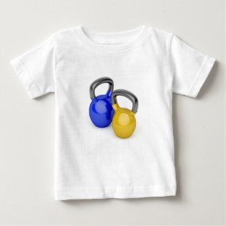 Camiseta Para Bebê Dois kettlebells