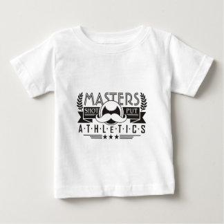 Camiseta Para Bebê domina o tiro do atletismo psto