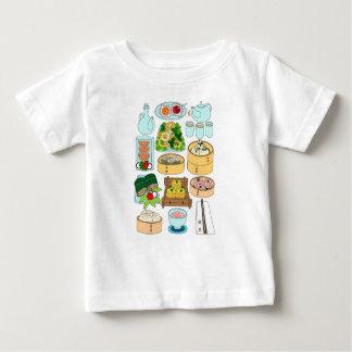 Camiseta Para Bebê Domingo Dim Sum