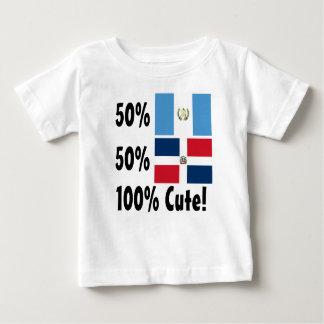 Camiseta Para Bebê Dominican 100% do Guatemalan 50% de 50% bonito