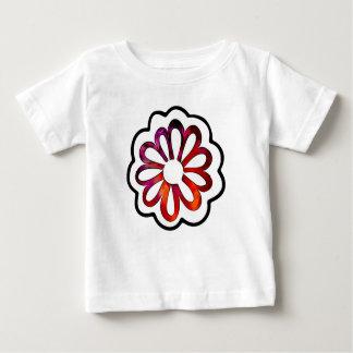 Camiseta Para Bebê Doodle lunático de flower power