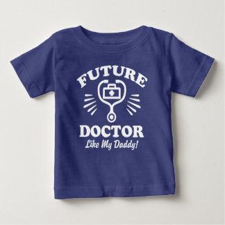 Camiseta Para Bebê Doutor futuro Como Meu Pai