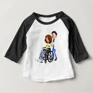 Camiseta Para Bebê Doutor Wheeling Paciente Cadeira de rodas dos