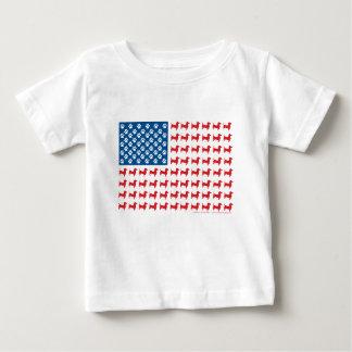 Camiseta Para Bebê Doxie-EUA-BANDEIRA-PARa-Obscuridades