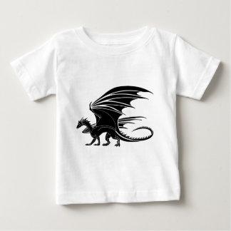 Camiseta Para Bebê Dragão irritado