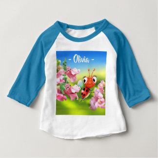 Camiseta Para Bebê Dragões instantâneos amigáveis do joaninha do bebê