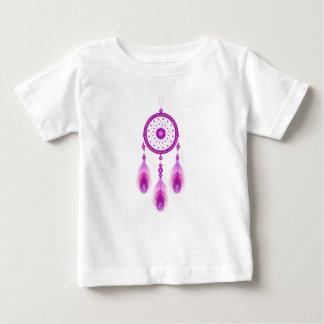 Camiseta Para Bebê Dreamcatcher cor-de-rosa