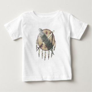 Camiseta Para Bebê Dreamcatcher desvanecido