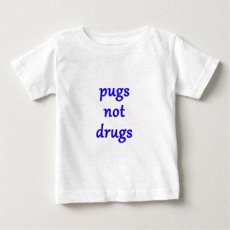 Camiseta Para Bebê drogas dos pugs não